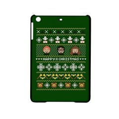 Merry Nerdmas! Ugly Christma Green Background iPad Mini 2 Hardshell Cases