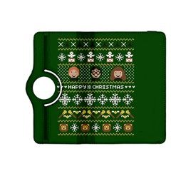 Merry Nerdmas! Ugly Christma Green Background Kindle Fire HDX 8.9  Flip 360 Case