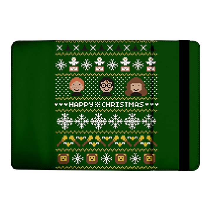 Merry Nerdmas! Ugly Christma Green Background Samsung Galaxy Tab Pro 10.1  Flip Case