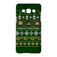 Merry Nerdmas! Ugly Christma Green Background Samsung Galaxy A5 Hardshell Case