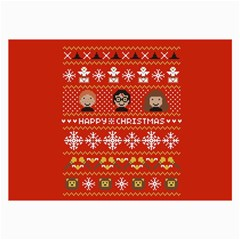 Merry Nerdmas! Ugly Christma Red Background Collage Prints