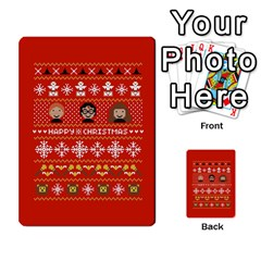 Merry Nerdmas! Ugly Christma Red Background Multi Purpose Cards (rectangle)