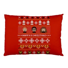 Merry Nerdmas! Ugly Christma Red Background Pillow Case