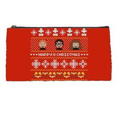Merry Nerdmas! Ugly Christma Red Background Pencil Cases