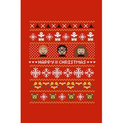 Merry Nerdmas! Ugly Christma Red Background 5.5  x 8.5  Notebooks