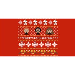 Merry Nerdmas! Ugly Christma Red Background YOU ARE INVITED 3D Greeting Card (8x4)