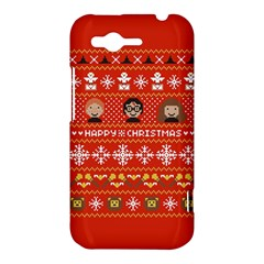 Merry Nerdmas! Ugly Christma Red Background HTC Rhyme