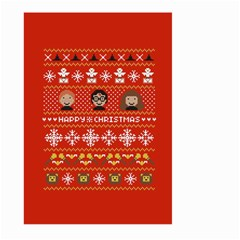 Merry Nerdmas! Ugly Christma Red Background Large Garden Flag (two Sides)