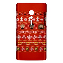 Merry Nerdmas! Ugly Christma Red Background Sony Xperia ion