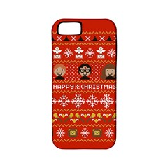 Merry Nerdmas! Ugly Christma Red Background Apple Iphone 5 Classic Hardshell Case (pc+silicone)