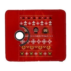 Merry Nerdmas! Ugly Christma Red Background Samsung Galaxy S  III Flip 360 Case