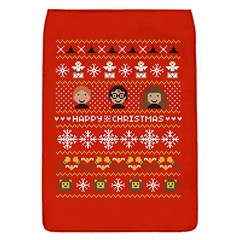 Merry Nerdmas! Ugly Christma Red Background Flap Covers (S)