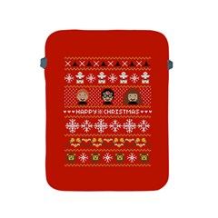 Merry Nerdmas! Ugly Christma Red Background Apple iPad 2/3/4 Protective Soft Cases