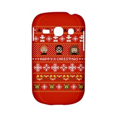 Merry Nerdmas! Ugly Christma Red Background Samsung Galaxy S6810 Hardshell Case