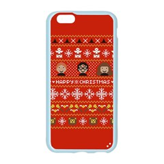 Merry Nerdmas! Ugly Christma Red Background Apple Seamless iPhone 6/6S Case (Color)