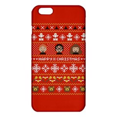 Merry Nerdmas! Ugly Christma Red Background iPhone 6 Plus/6S Plus TPU Case