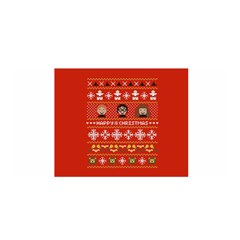 Merry Nerdmas! Ugly Christma Red Background Satin Wrap