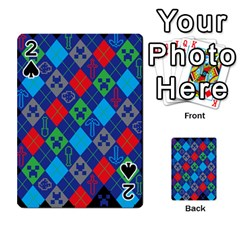 Minecraft Ugly Holiday Christmas Black Background Playing Cards 54 Designs