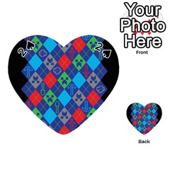 Minecraft Ugly Holiday Christmas Black Background Playing Cards 54 (heart)