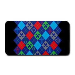 Minecraft Ugly Holiday Christmas Black Background Medium Bar Mats