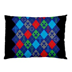 Minecraft Ugly Holiday Christmas Black Background Pillow Case (Two Sides)