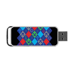 Minecraft Ugly Holiday Christmas Black Background Portable Usb Flash (one Side)