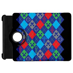 Minecraft Ugly Holiday Christmas Black Background Kindle Fire HD Flip 360 Case