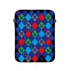 Minecraft Ugly Holiday Christmas Black Background Apple Ipad 2/3/4 Protective Soft Cases