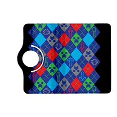 Minecraft Ugly Holiday Christmas Black Background Kindle Fire HD (2013) Flip 360 Case