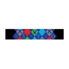 Minecraft Ugly Holiday Christmas Black Background Flano Scarf (Mini)