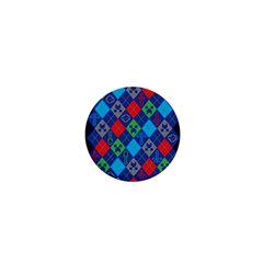 Minecraft Ugly Holiday Christmas Blue Background 1  Mini Buttons