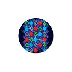 Minecraft Ugly Holiday Christmas Blue Background Golf Ball Marker (4 Pack)