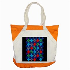 Minecraft Ugly Holiday Christmas Blue Background Accent Tote Bag