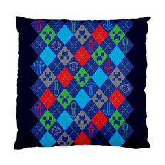 Minecraft Ugly Holiday Christmas Blue Background Standard Cushion Case (One Side)