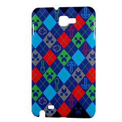 Minecraft Ugly Holiday Christmas Blue Background Samsung Galaxy Note 1 Hardshell Case