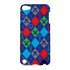 Minecraft Ugly Holiday Christmas Blue Background Apple iPod Touch 5 Hardshell Case