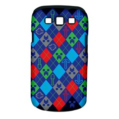 Minecraft Ugly Holiday Christmas Blue Background Samsung Galaxy S Iii Classic Hardshell Case (pc+silicone)