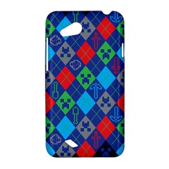 Minecraft Ugly Holiday Christmas Blue Background HTC Desire VC (T328D) Hardshell Case