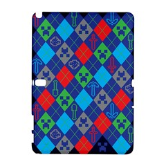Minecraft Ugly Holiday Christmas Blue Background Samsung Galaxy Note 10 1 (p600) Hardshell Case
