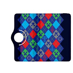 Minecraft Ugly Holiday Christmas Blue Background Kindle Fire HDX 8.9  Flip 360 Case