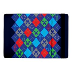 Minecraft Ugly Holiday Christmas Blue Background Samsung Galaxy Tab Pro 10.1  Flip Case