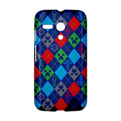 Minecraft Ugly Holiday Christmas Blue Background Motorola Moto G