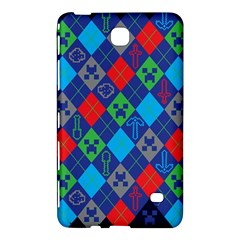 Minecraft Ugly Holiday Christmas Blue Background Samsung Galaxy Tab 4 (8 ) Hardshell Case