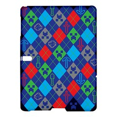 Minecraft Ugly Holiday Christmas Blue Background Samsung Galaxy Tab S (10 5 ) Hardshell Case