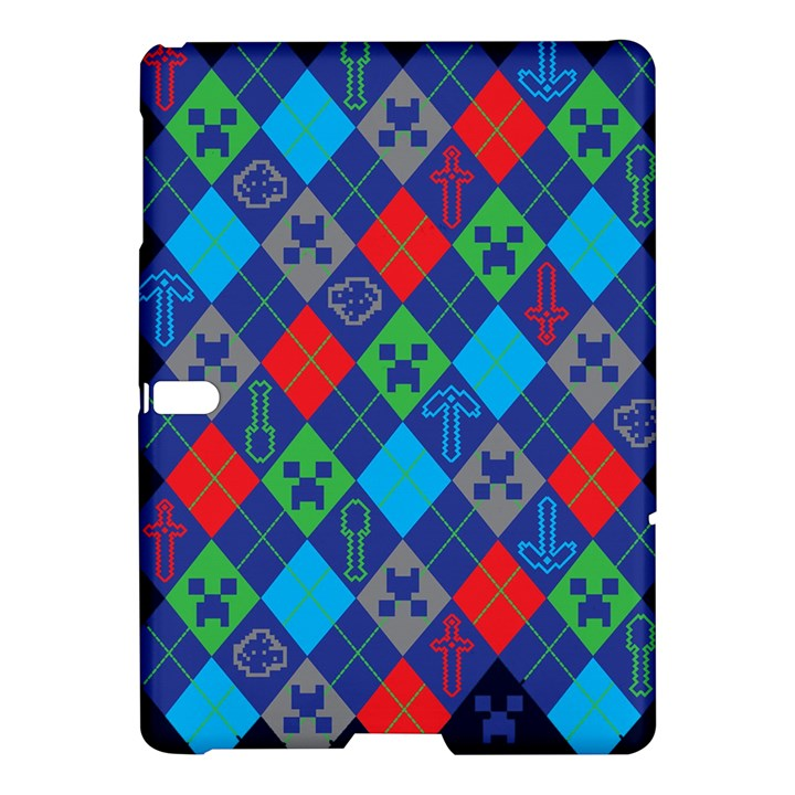 Minecraft Ugly Holiday Christmas Blue Background Samsung Galaxy Tab S (10.5 ) Hardshell Case