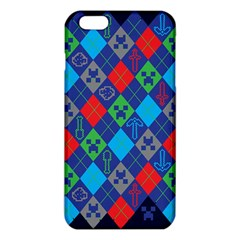 Minecraft Ugly Holiday Christmas Blue Background iPhone 6 Plus/6S Plus TPU Case