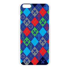 Minecraft Ugly Holiday Christmas Blue Background Apple Seamless iPhone 6 Plus/6S Plus Case (Transparent)