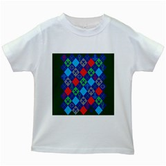 Minecraft Ugly Holiday Christmas Green Background Kids White T Shirts
