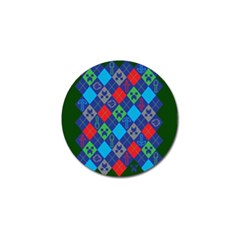 Minecraft Ugly Holiday Christmas Green Background Golf Ball Marker
