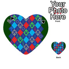 Minecraft Ugly Holiday Christmas Green Background Playing Cards 54 (heart)